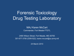 Forensic Toxicology Drug Testing Laboratory