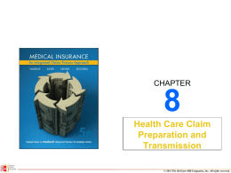 8.6 Completing the HIPAA 837 Claim