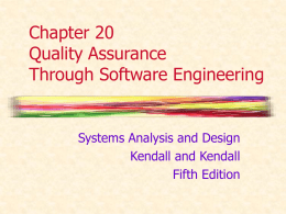 Chapter 20 Quality Assurance Through Software