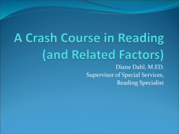 A Crash Course in Reading