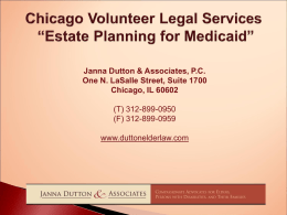 Estate planning for medicaid 8-27-09
