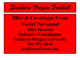 Blitz & Coverages From Nickel Personnel Mike