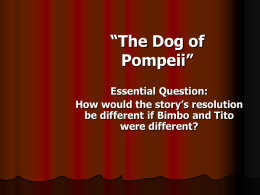 Dog of Pompeii - The O`Farrell Charter School