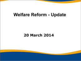 Welfare Benefits Cap - Redcar and Cleveland Borough Council