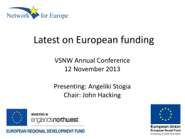 The Latest News on European Funding