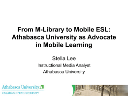 Use of Mobile Learning to Train English as a