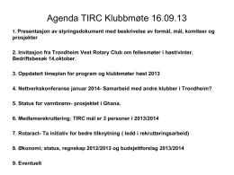 Styringsdokument 2011-2012 - Trondheim International Rotary Club
