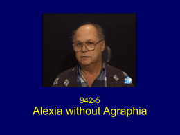 Alexia Without Agraphia (novel.utah.edu)