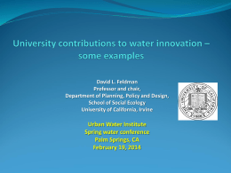 Dave Feldman - Urban Water Institute, Inc.