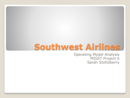 LM1: Southwest Airlines Operatin Model