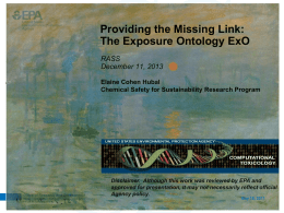 the Exposure Ontology (ExO)