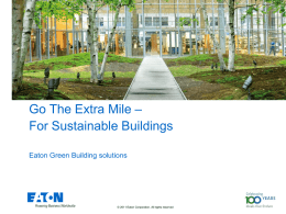Green Building EMEA Solution presentation