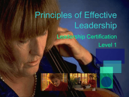 Principles of Effective Leadership