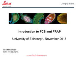 FRAP and FCS - COIL - University of Edinburgh