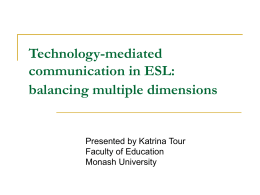 Technology-mediated communication in ESL