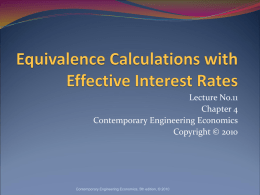 Equivalence Analysis using Effective Interest Rates