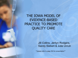 the iowa model of evidence-based practice to promote quality care