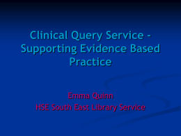Clinical Query Service