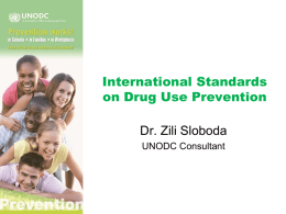 International Standards on Drug Use Prevention