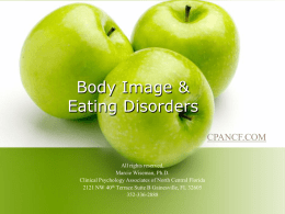 Body Image & Eating Disorders - Clinical Psychology Associates of