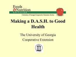 Making a DASH to Good Health
