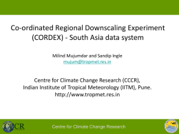 - CCCR - Indian Institute of Tropical Meteorology