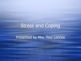 Stress and Coping - Bukal Life Care & Counseling Center