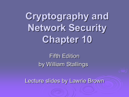 William Stallings, Cryptography and Network Security 5/e