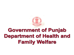 review of health deparmtent by chief secretary dated 07.05.2012
