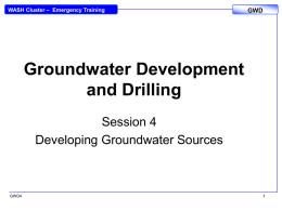 GWD4_PP_Developing Groundwater Sources
