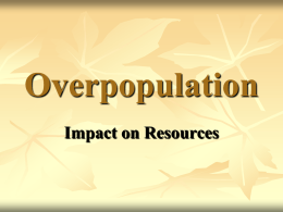 Effects of Overpopulation on Resources
