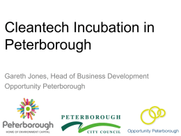 EnviroCluster Peterborough - Cleantech Incubation Europe