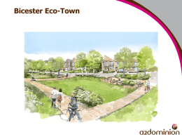 Bicester Eco Town- Heather David and Steve Hornblow