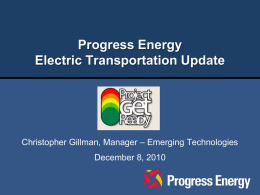 Progress Energy Electric Transportation Update