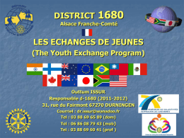 Student Exchange - Rotary International District 1680