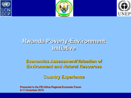 Government of [Rwanda] - UNDP-UNEP Poverty