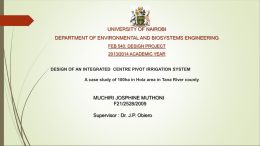 Josphine - Department of Environmental & Biosystems
