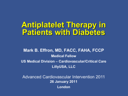 Diabetes - BCIS - British Cardiovascular Intervention Society