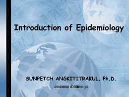 Intro to Epidem-