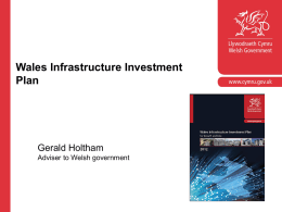 Wales Infrastructure Investment Plan