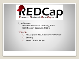 REDCap (Research Electronic Database Capture)