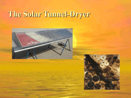 Power-Point Presentation about Solar Dryer