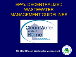 EPA Decentralized Wastewater Management