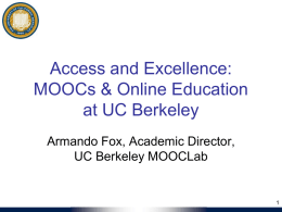 HSSA`s workshop on MOOCs
