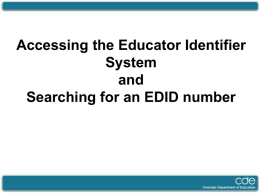 Searching for an EDID number
