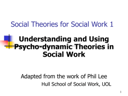 Social Theories for Social Work 1