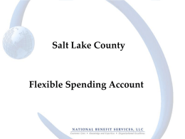 Flexible Spending Account - Administrative Services