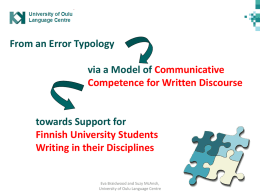 Analysis of Students` Writing across the Disciplines: Planning