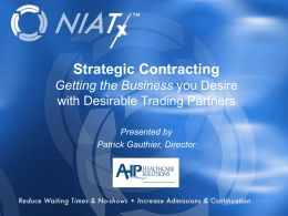 Strategic Contracting - Getting the Business you Desire with
