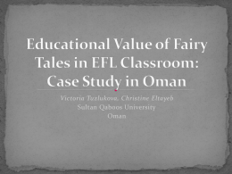 Short Stories and Fairy Tales in EFL Classroom